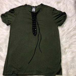 Forest Green Lace - Up Top